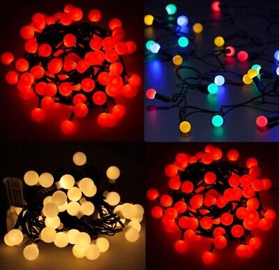 Berry LED Fairy Lights Battery Operated Ball Shaped Holly String Xmas Christmas • 7.99£