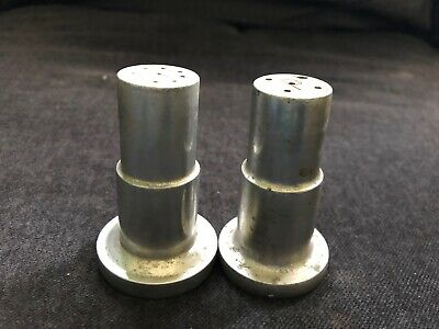 Vintage INDUSTRIAL Cast Aluminum Metal Salt & Pepper Shakers Mid Century  • 19.99$