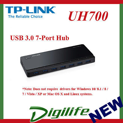 AU38 • Buy TP-LINK UH700 7-Port 5Gbps USB 3.0 Hub 12V/2.5A Power Adapter Cable