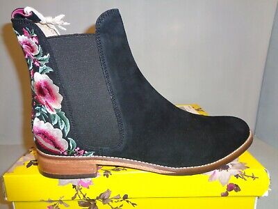 Joules Westbourne Floral Embroidered Chelsea Women's Leather Boots Size 9M NIB!! • 89.95$