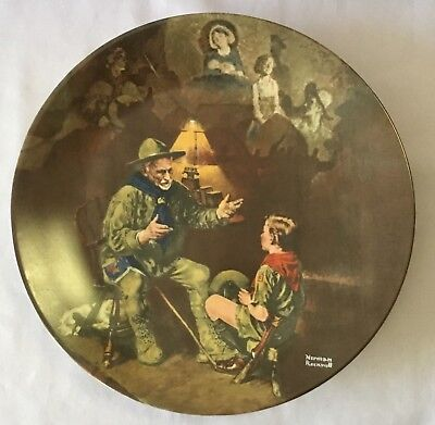 $ CDN17.98 • Buy Norman Rockwell  The Old Scout  Plate 1990 Edwin M. Knowles