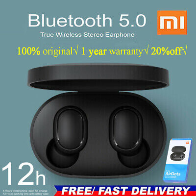 Bluetooth 5.0 Xiaomi Redmi AirDots Wireless TWS Earphone Active Earbud Headset】 • 12.59$
