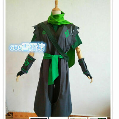 $ CDN96.51 • Buy Sparrow Young Genji Green Cosplay Costume Full Set