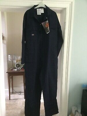 NWT 46R Dickies Proban Coverall Overall, Flame Ret, Boiler Suit, Navy FR4869 • 42.99£