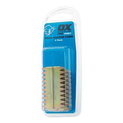 £5.99 • Buy OX Pro 25mm Scutch Combs – 4 Pack Chisels Blades OX-P080725