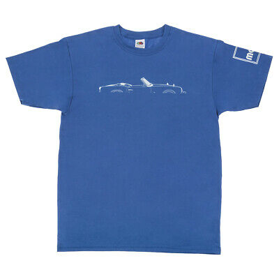 Triumph Spitfire Silhouette Men's T-Shirt In Blue Size L - Available In S/M/XL • 18£