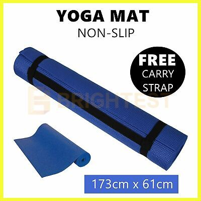 AU17.95 • Buy Exercise Mat EVA Yoga Mat Non-Slip Gym Fitness Pilates Workouts Pad Carry Strap
