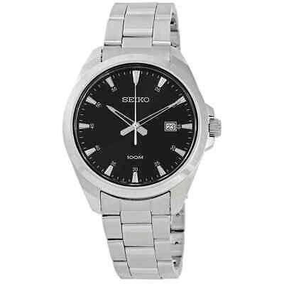 $ CDN93.34 • Buy Seiko Black Dial Stainless Steel Men's Watch SUR209
