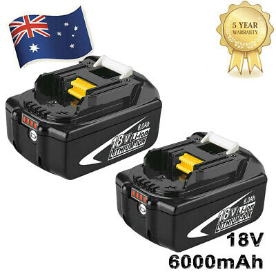 AU87.99 • Buy 18V 6.0Ah REPLACE BL1860B BATTERY LXT LITHIUM-ION FOR Makita BL1850B LED Tools