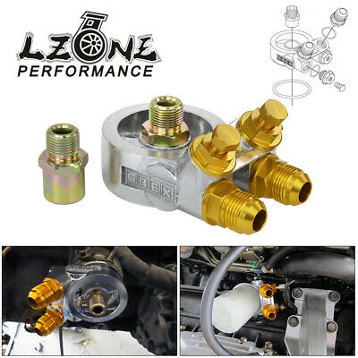 $36.67 • Buy Universal AN10 Block Adapter Sandwich 3/4 -16UNF M20*1.5 Thermostat Oil Cooler