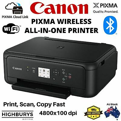 AU109.95 • Buy Canon PIXMA TS5160 All-In-One Wireless Printer Auto Duplex Cloud Print With Ink
