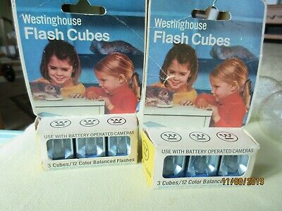 $10.50 • Buy Vintage WESTINGHOUSE Flash Cubes 6-Pack  24 Color Balanced Flashes Camera CDAT 3