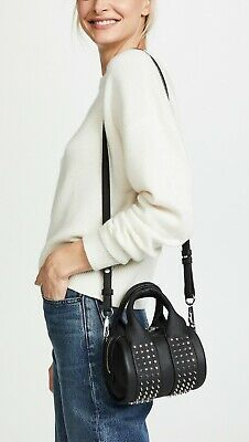 AU801.13 • Buy NEW Alexander Wang Baby Rockie Micro Stud Duffel Bag, Black Leather