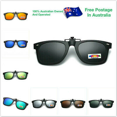 AU11.95 • Buy Polarised Mens Women Vintage Driving Polarized Clip On Flap Up Sunglasses CLY004