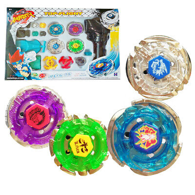$12 • Buy 4D Metal Fusion Masters Children Beyblade Rapidity With Handle Launcher Set Go
