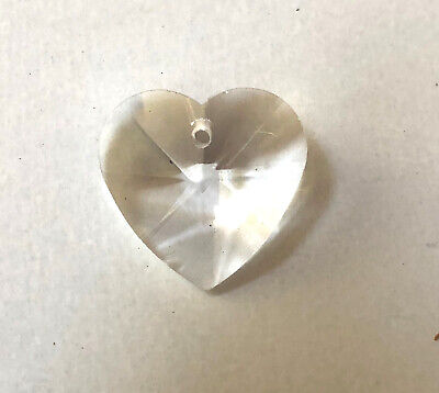 $2 • Buy  NEW: 20mm Clear Crystal Glass HEART PRISM ORNAMENT SUNCATCHER