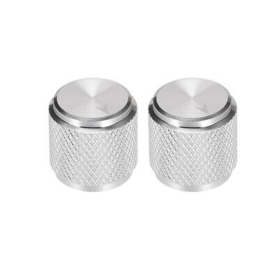 $ CDN11.56 • Buy 2pcs Potentiometer Knob SilverTone Aluminum Volume Control Knob Amplifier Guitar