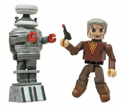 AU51.01 • Buy Diamond Select Toys Lost In Space Dr. Smith And B9 Robot Minimates, 2-Pack