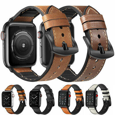$ CDN9.37 • Buy For Apple Watch Series 5 4 3 2 1 Genuine Leather IWatch Band Strap 38/42/40/44mm