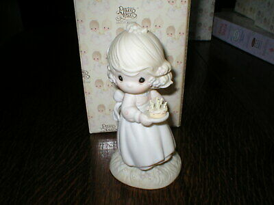 Enesco Precious Moments Figurine May Your Birthday Be A Blessing Boxed • 14.99£