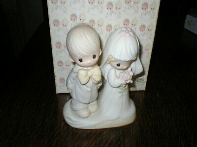 Enesco Precious Moments Figurine The Lord Bless You And Keep You Boxed • 14.99£