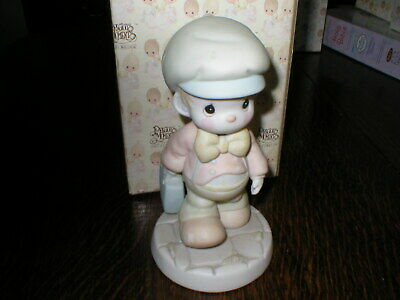 Enesco Precious Moments Figurine Lord Help Me Make The Grade Boxed • 14.99£