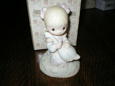 Enesco Precious Moments Figurine God Is Love Boxed 1980 • 10.99£