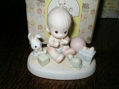 1987 Enesco Precious Moments Figurine Heaven Bless You Boxed • 14.99£