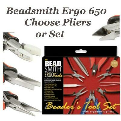 Beadsmith Pliers Red & Black Ergo 650 Series Boxjoint Jewellery Tools, Choose..  • 8.50£