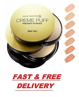 Max Factor Creme Puff Pressed Face Powder Compact 21g - *CHOOSE YOUR SHADE* • 5.99£