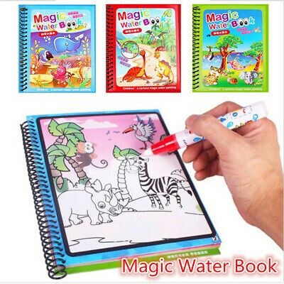 £5.99 • Buy Water Drawing Book Magic Doodle Coloring Book Learning Painting & Pen For Kids