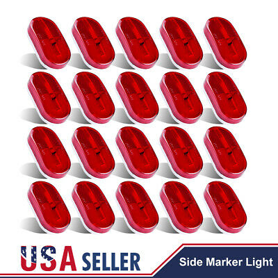 20X Red LED Indicator Light Clearance Side Marker Boat Truck Trailer RV 6 Diodes • 45.91$
