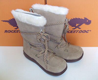 Rocket Dog Ladies Leather Fur Lined Winter Snow Warm Walking Hiking Boots Size • 22.98£