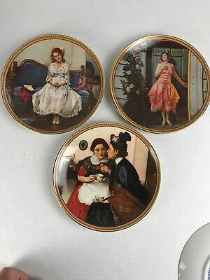 $ CDN16.25 • Buy Norman Rockwell Rediscovered Women Plates Set Of   3. Great Condition.