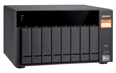 $ CDN1459.43 • Buy QNAP TS-832X-2G 8 Bay Diskless NAS Alpine AL-324 Quad Core 1.7GHz CPU 2GB RAM