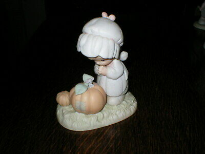 Enesco Precious Moments Figurine October Girl With Pumpkin  • 12.99£
