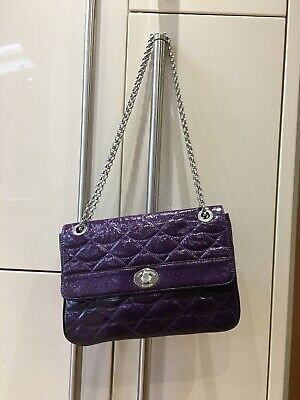 LULU GUINNESS Annabelle Purple Patent Leather Shouder Bag / Cross-Body Bag..USED • 65£