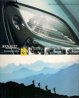 Renault Scenic RX4 Salomon Limited Edition 2001 UK Market Sales Brochure • 19£