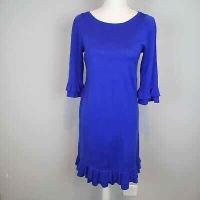 Lilly Pulitzer Merino Wool Helena Sweater Dress Navy Blue Size Medium • 29.95$