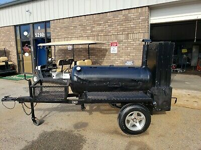 $4799 • Buy Lang 60 Deluxe BBQ Smoker Cooker Trailer Firewood Rib Box Food Truck Business