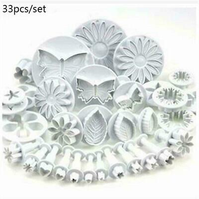 Plunger Cutters Cake Decorating Fondant Biscuit Cookie Mold Flower Set Baki Z1B1 • 5.99£