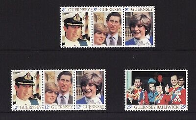 1981 Guernsey, Royal Wedding, NH Mint Set Of Stamps, SG 232-8 • 1.45£