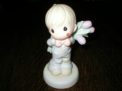Enesco Precious Moments Figurine For The Sweatest To-lips In Town • 9.99£