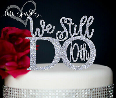 Silver 10th Wedding Anniversary Rhinestone Number Cake Topper Party Decoration  • 12.73£