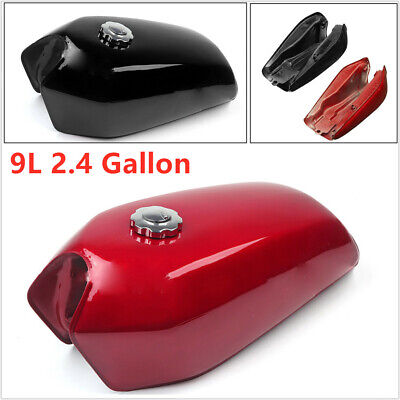 $85.86 • Buy Universal 9L/2.4 Gallon Motorcycle Cafe Racer Gas Fuel Tank Fit Cap Switch