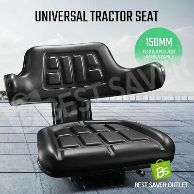 AU95.79 • Buy Black PU Leather Tractor Seat Excavator Forklift Truck Seat Universal Chair