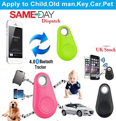 Bluetooth GPS Tracker Anti-Lost Alarm Key Finder Dog Locator Smart Tag Child • 3.59£