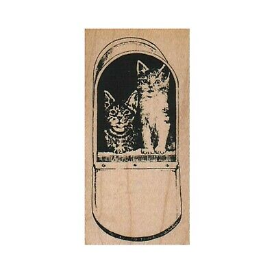 $8.75 • Buy NEW Kitties In Mail Box RUBBER STAMP, Kitty Stamp, Cat Stamp, Cat Lover Stamp