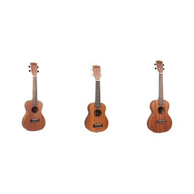 AU50.83 • Buy Lovoski Wooden Ukulele Sapele 18 Fret 4 Strings Stringed Musical Instrument