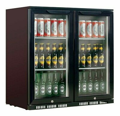 AU775 • Buy BRAND NEW! Heller Black 210L Double Door Bar Fridge - HUB210